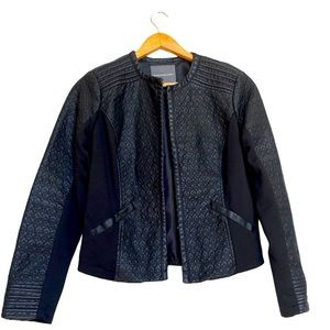 Kate & Mallory Textured Faux Leather Jacket
